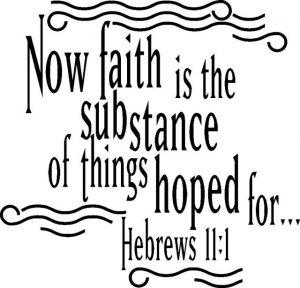 faith hoped for