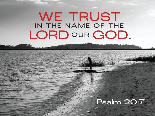 We trust in the name of the Lord