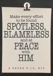 be found blameless