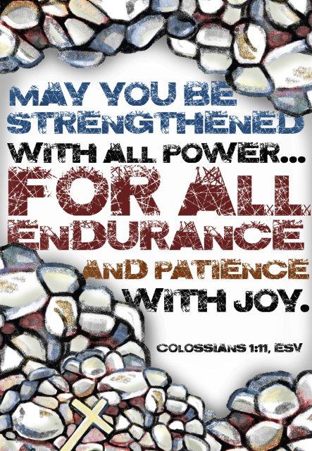 strength endurance patience joy