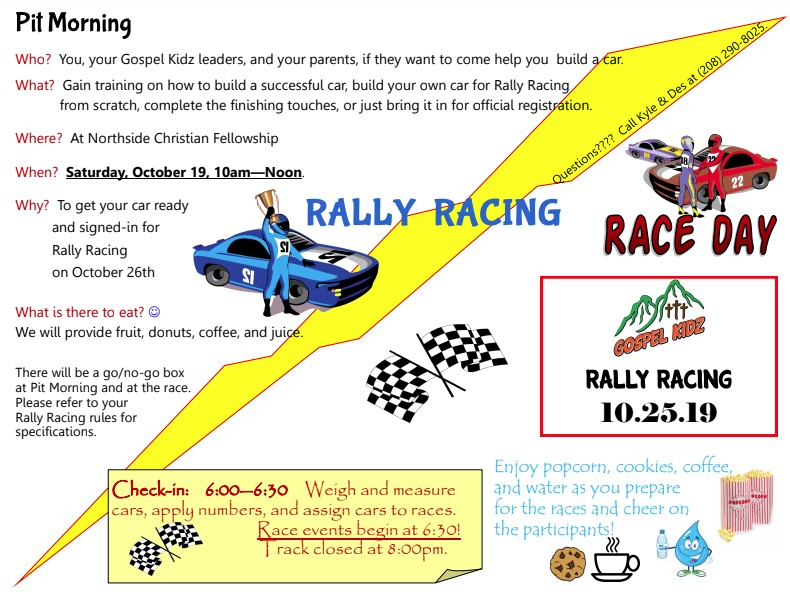 Pit Day & Rally Racing
