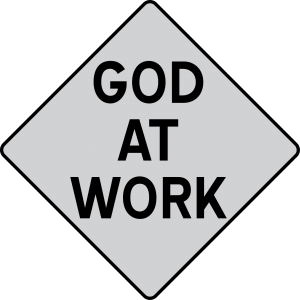 God at Work road sign