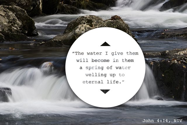 water welling up to eternal life