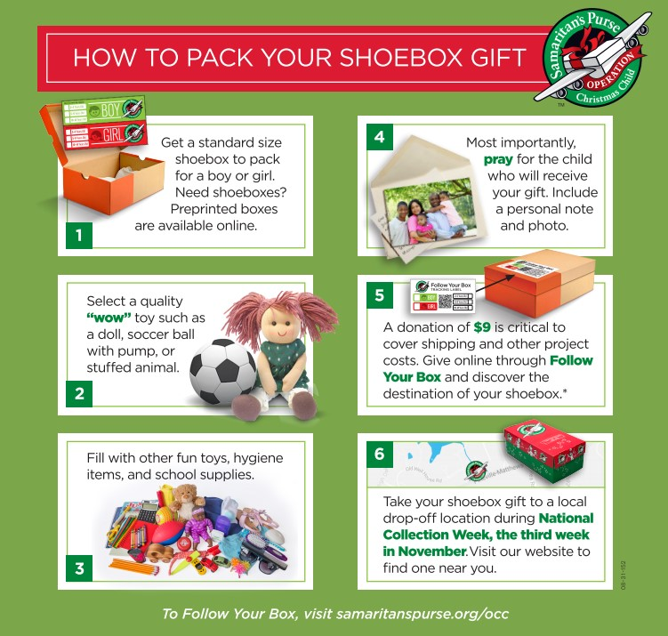 how to pack shoebox