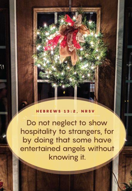 show hospitality to strangers
