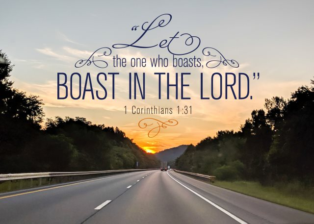 boast in the Lord