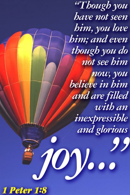 believe glorious joy balloon