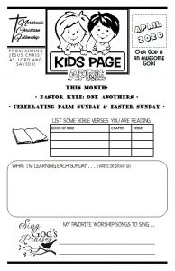 Easter Kids Bulletin