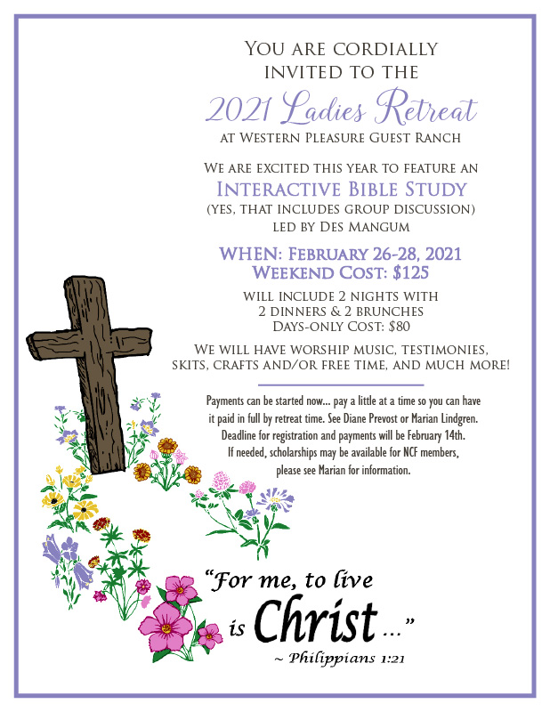 2021 Ladies Retreat Invitation