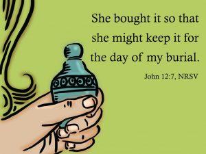 Mary anoint Jesus