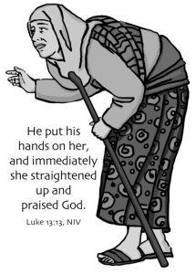 woman bent Jesus healed